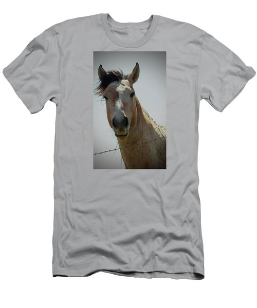 Men's T-Shirt (Slim Fit) featuring the photograph Stop Bothering Me by Rima Biswas