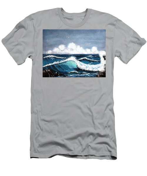 Storm At Sea Men's T-Shirt (Slim Fit) by Barbara Griffin