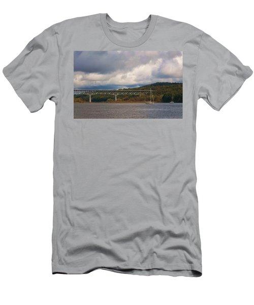 Storm Brewing Over Rip Van Winkle Bridge Men's T-Shirt (Athletic Fit)