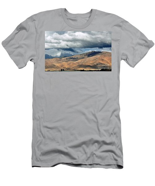 Storm Clouds Floating Above Mountains Men's T-Shirt (Slim Fit) by Susan Wiedmann