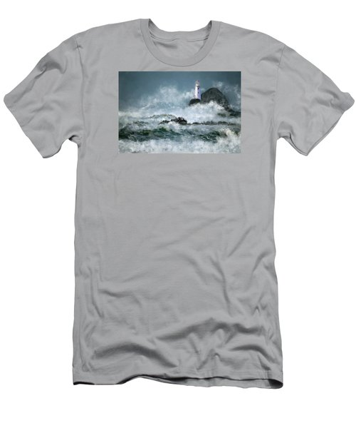 Stormy Seas Men's T-Shirt (Slim Fit) by Michael Malicoat