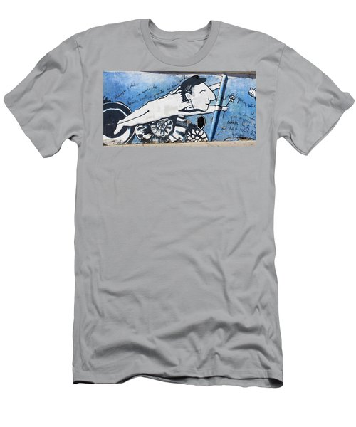 Street Art Santiago Chile Men's T-Shirt (Athletic Fit)