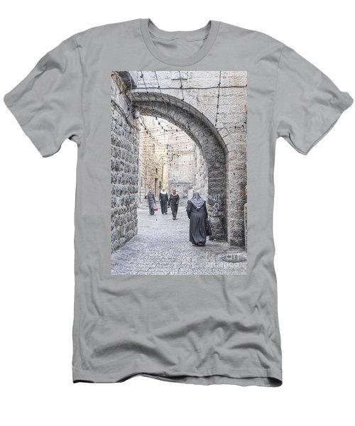 Street In Jerusalem Old Town Israel Men's T-Shirt (Athletic Fit)
