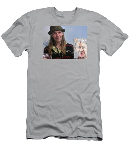 Men's T-Shirt (Slim Fit) featuring the photograph Street People - A Touch Of Humanity 5 by Teo SITCHET-KANDA