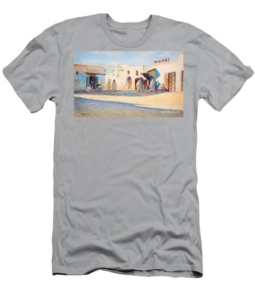 Street Scene From Tunisia. Men's T-Shirt (Athletic Fit)