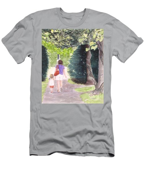 Strolling With Mom Men's T-Shirt (Athletic Fit)