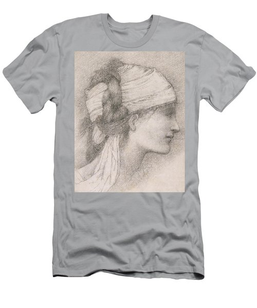Study Of A Female Head To The Right Men's T-Shirt (Athletic Fit)