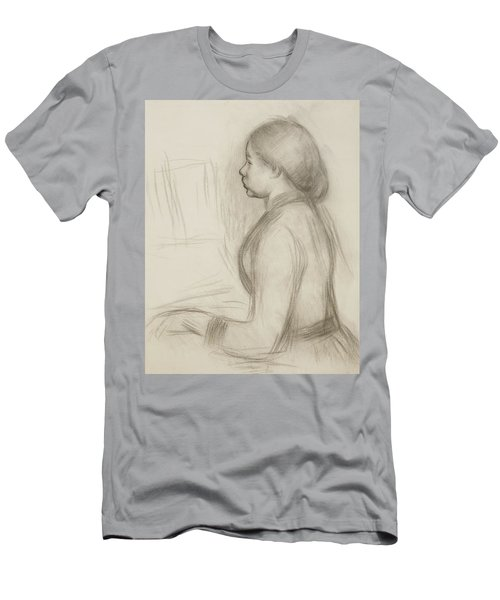 Study Of A Young Girl At The Piano Men's T-Shirt (Athletic Fit)