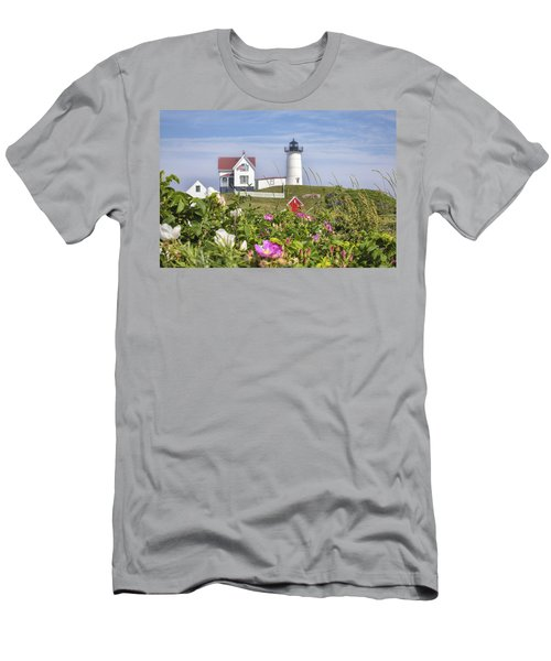 Summer At Nubble Light Men's T-Shirt (Athletic Fit)