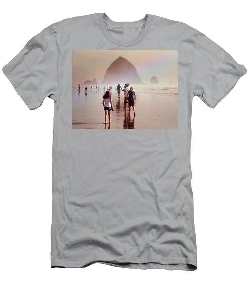 Summer At The Seashore  Men's T-Shirt (Slim Fit) by Micki Findlay