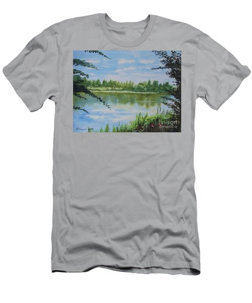 Summer By The River Men's T-Shirt (Slim Fit) by Martin Howard