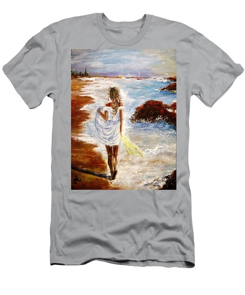 Men's T-Shirt (Slim Fit) featuring the painting Summer Memories by Cristina Mihailescu