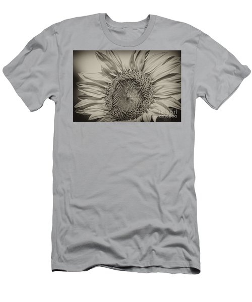 Men's T-Shirt (Slim Fit) featuring the photograph Summer Sunflower by Wilma  Birdwell