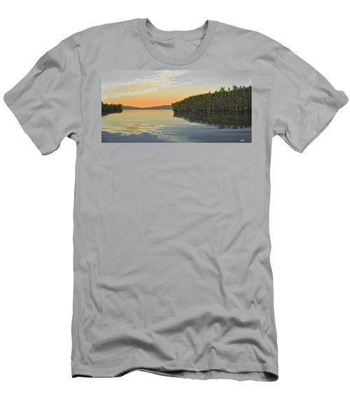 Men's T-Shirt (Slim Fit) featuring the painting Summers End by Kenneth M  Kirsch