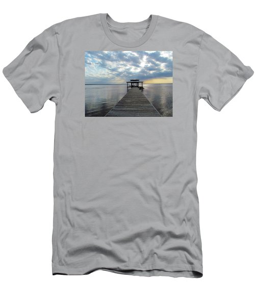 Men's T-Shirt (Slim Fit) featuring the photograph Sun Rays On The Lake by Cynthia Guinn