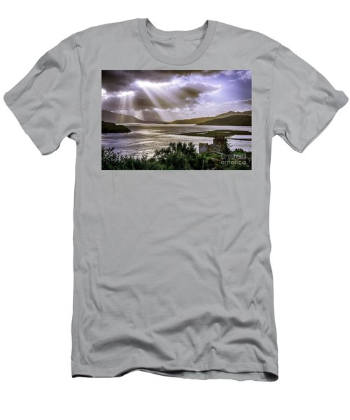 Sun Rays Over Eilean Donan Castle Men's T-Shirt (Athletic Fit)