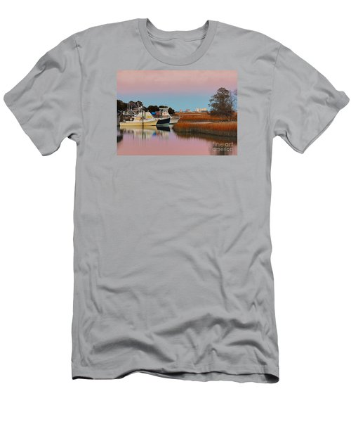 Men's T-Shirt (Slim Fit) featuring the photograph Sun Setting At Murrells Inlet by Kathy Baccari