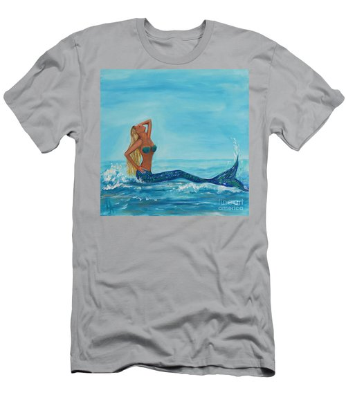 Sunbathing Mermaid Men's T-Shirt (Athletic Fit)