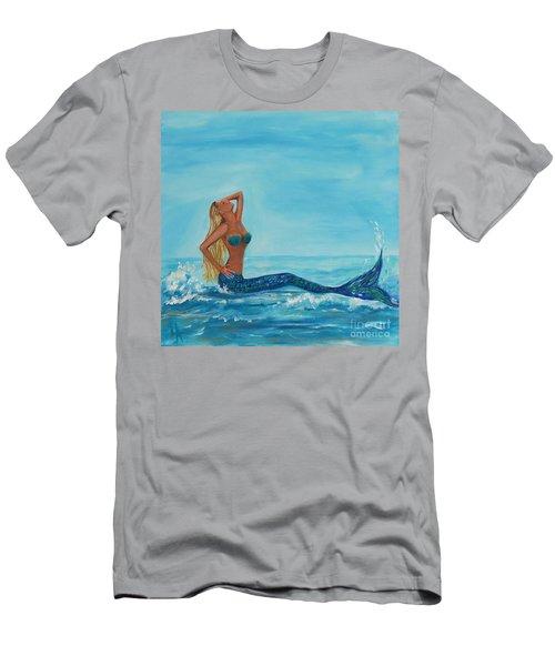 Sunbathing Mermaid Men's T-Shirt (Athletic Fit)