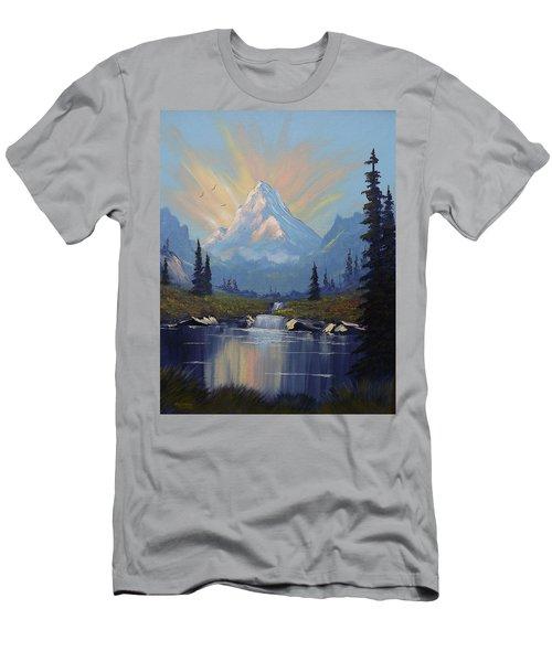 Sunburst Landscape Men's T-Shirt (Slim Fit) by Richard Faulkner