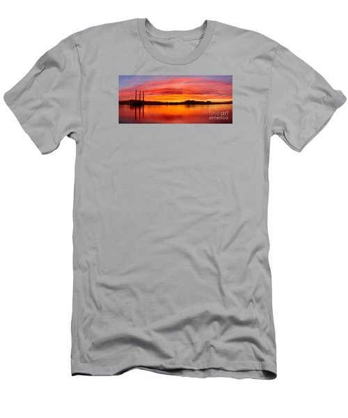 Sunrise Bay Men's T-Shirt (Slim Fit) by Alice Cahill