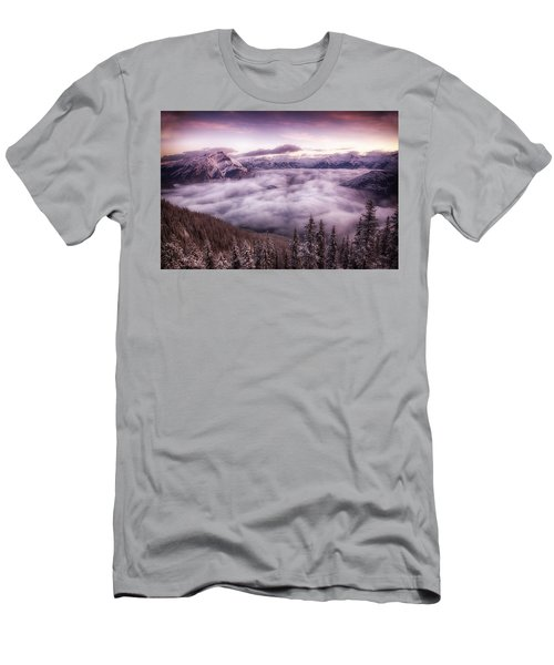 Sunrise Over The Canadian Rockies Men's T-Shirt (Athletic Fit)