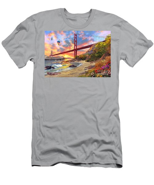 Sunset At Golden Gate Men's T-Shirt (Athletic Fit)