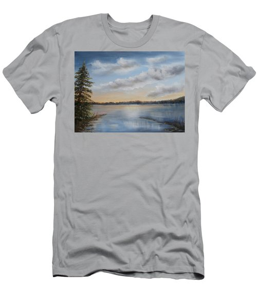 Sunset At Sparta Lake New Jersey Men's T-Shirt (Athletic Fit)