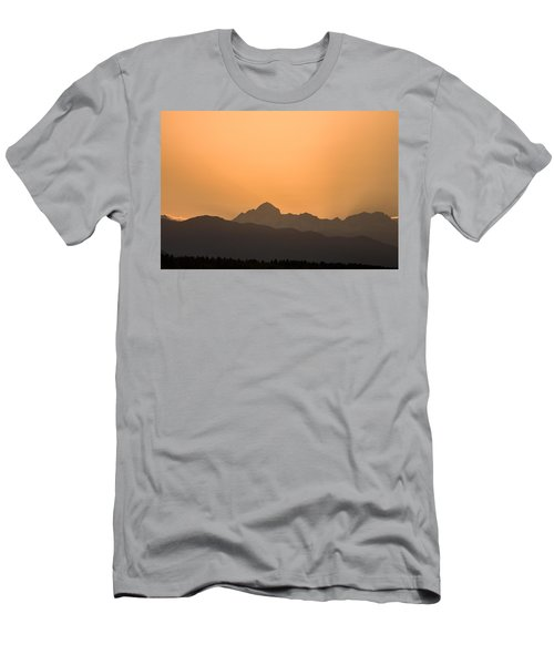 Sunset Behind The Julian Alps Men's T-Shirt (Athletic Fit)