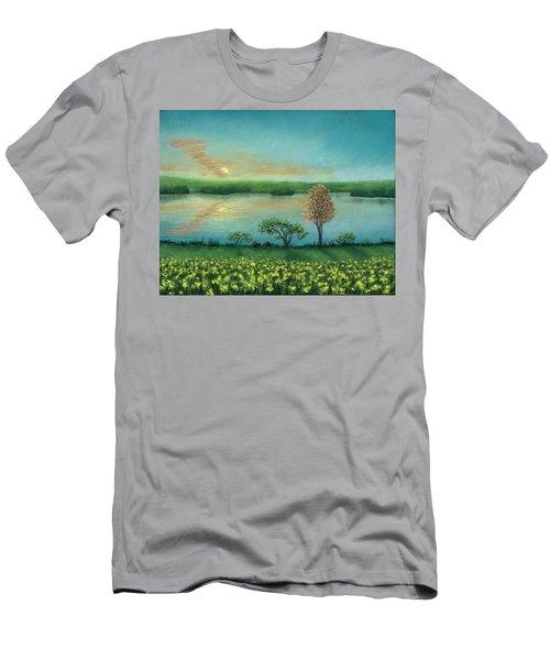 Sunset Lake B Men's T-Shirt (Athletic Fit)