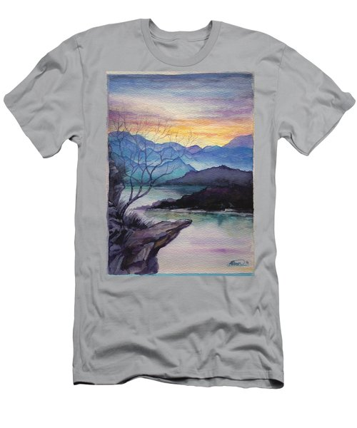 Sunset Montains Men's T-Shirt (Athletic Fit)