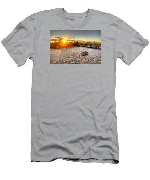 Men's T-Shirt (Slim Fit) featuring the photograph Sunset On The Thames by Tim Stanley
