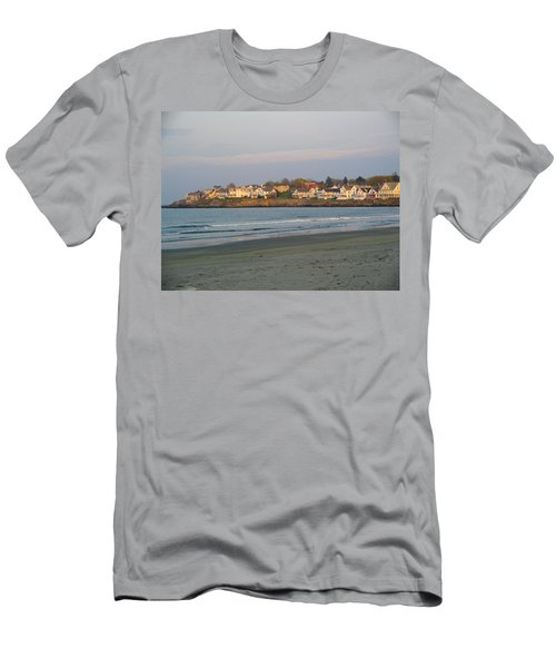 Sunset On York Beach Men's T-Shirt (Athletic Fit)