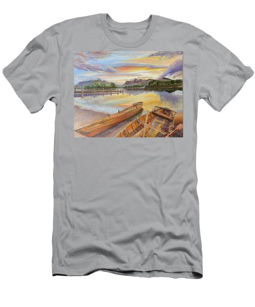 Sunset Over Serenity Lake Men's T-Shirt (Athletic Fit)