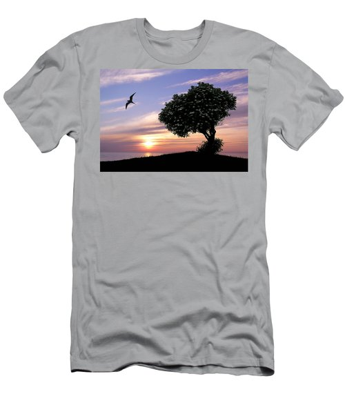 Sunset Tree Of Tranquility Men's T-Shirt (Athletic Fit)
