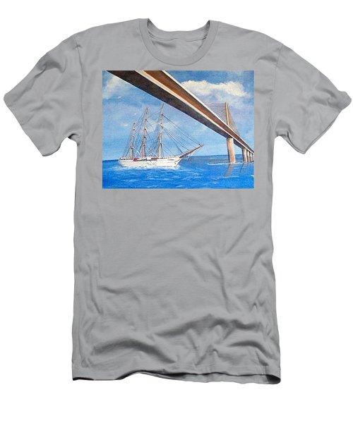 Sunshine Skyway Bridge  Men's T-Shirt (Athletic Fit)