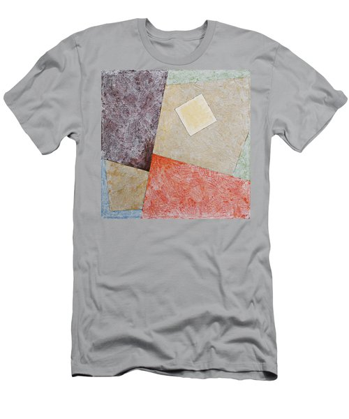 Men's T-Shirt (Athletic Fit) featuring the painting Suprematist Composition No 1 With A Square by Ben Gertsberg