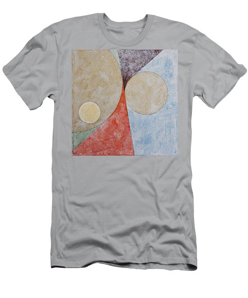 Men's T-Shirt (Athletic Fit) featuring the painting Suprematist Composition No 2 With A Circle by Ben Gertsberg