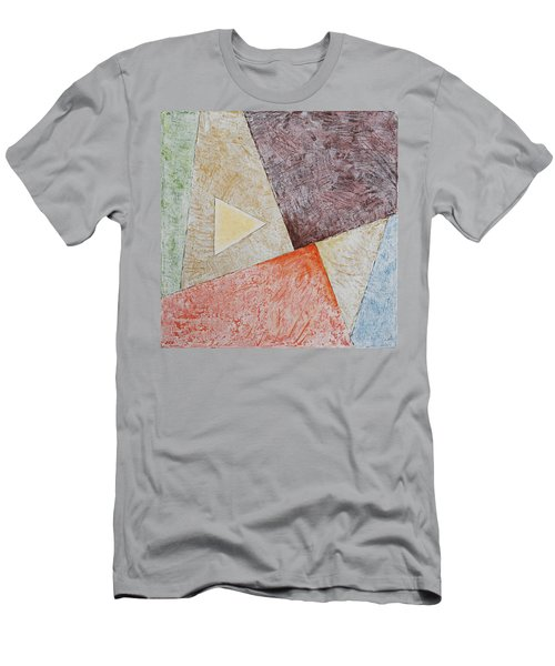 Men's T-Shirt (Athletic Fit) featuring the painting Suprematist Composition No 3 With A Triangle by Ben Gertsberg