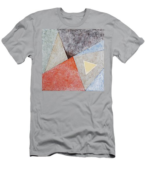 Men's T-Shirt (Athletic Fit) featuring the painting Suprematist Composition No 4 With A Triangle by Ben Gertsberg