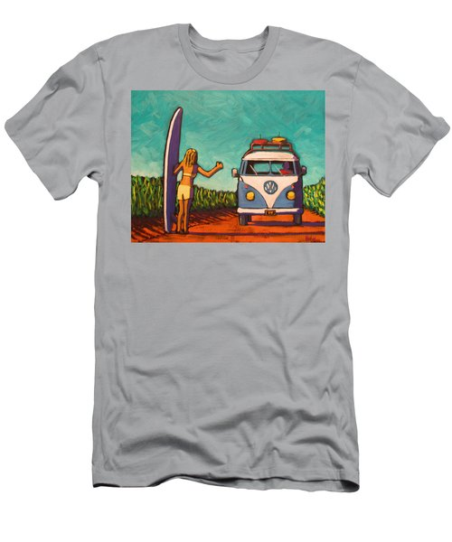 Surfer Girl And Vw Bus Men's T-Shirt (Athletic Fit)