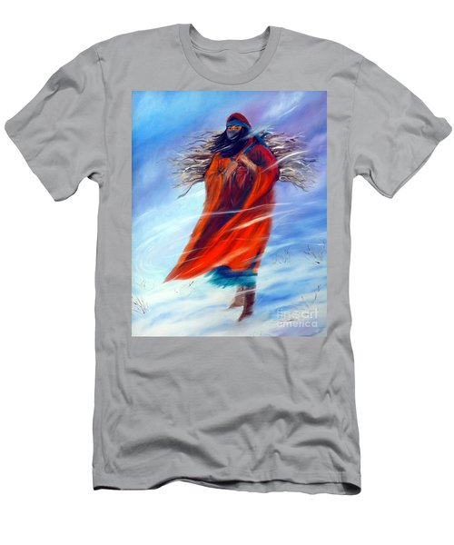 Men's T-Shirt (Slim Fit) featuring the painting Surviving Another Day by Jackie Carpenter