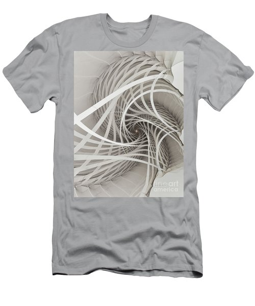 Suspension Bridge-fractal Art Men's T-Shirt (Athletic Fit)
