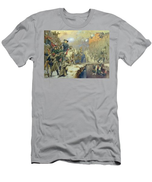 Suvorov Crossing The Devils Bridge In 1799, 1880 Wc On Paper Men's T-Shirt (Athletic Fit)