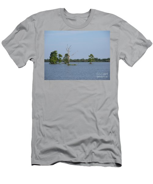 Men's T-Shirt (Slim Fit) featuring the photograph Swamp Cypress Trees by Joseph Baril