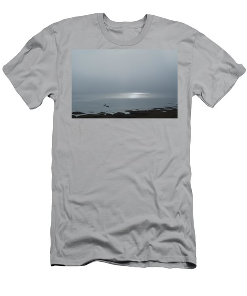 Swans At Sunrise Men's T-Shirt (Athletic Fit)