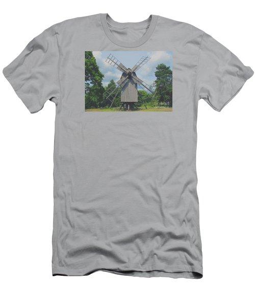 Men's T-Shirt (Slim Fit) featuring the photograph Swedish Old Mill by Sergey Lukashin