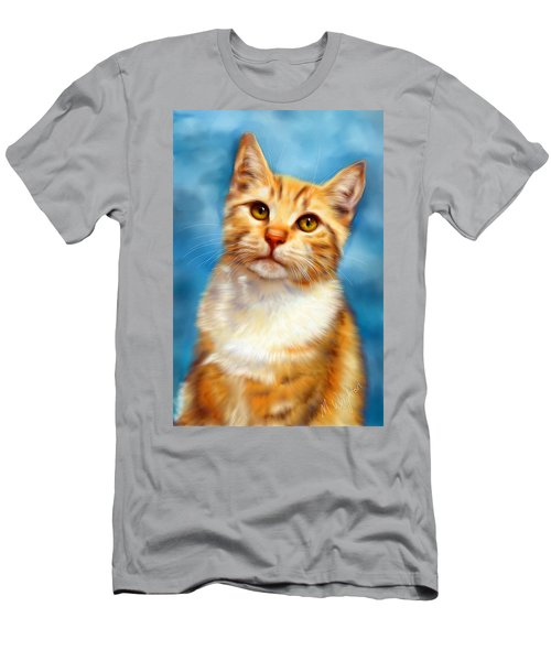 Sweet William Orange Tabby Cat Painting Men's T-Shirt (Athletic Fit)