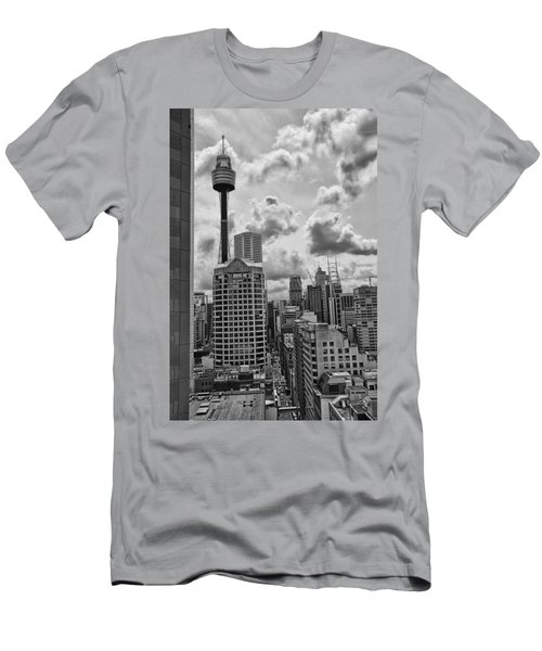 Sydney Skyline Men's T-Shirt (Slim Fit) by Douglas Barnard