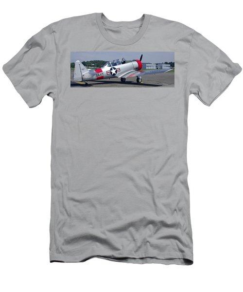 T 6 Navy Trainer Men's T-Shirt (Slim Fit) by James C Thomas